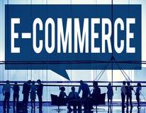 Elektronische handel Digitaal Marketing Voorzien van een netwerkconcept Stock Foto's