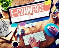 Elektronische handel Digitaal Marketing Voorzien van een netwerkconcept Stock Afbeelding