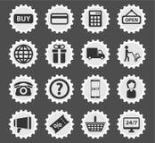 Elektronische handel eenvoudig pictogrammen Royalty-vrije Stock Foto