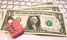 Elektronische handel en geld Stock Afbeelding