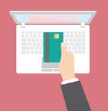 Elektronische handel en het winkelen online concept Royalty-vrije Stock Afbeeldingen