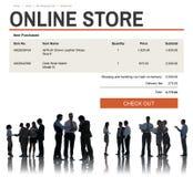 Elektronische handel het Online het Winkelen Concept van de Websitetechnologie Royalty-vrije Stock Afbeeldingen