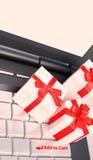 Elektronische handel het winkelen kaartconcepten royalty-vrije stock afbeelding