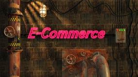Elektronische handel in Neon royalty-vrije illustratie