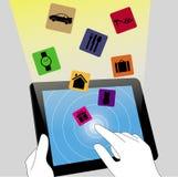 Elektronische handel op tabletpc Royalty-vrije Stock Fotografie