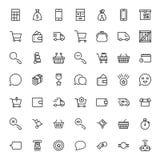 Elektronische handel vlak pictogram stock illustratie