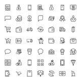 Elektronische handel vlak pictogram vector illustratie