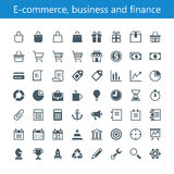 Elektronische handel, zaken en financiën Royalty-vrije Illustratie