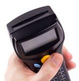 Elektronische handscanner van streepjescodes Stock Fotografie