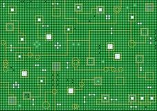 Elektronische hoogte - technologie abstracte groene achtergrond Royalty-vrije Stock Afbeelding