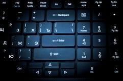 Elektronische inzameling - laptop toetsenbord De nadruk op Enter royalty-vrije stock afbeelding