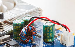 Elektronische kringen Stock Foto's