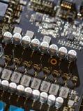 elektronische kringen van computermotherboard royalty-vrije stock afbeeldingen
