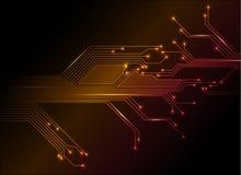 Elektronische krings abstracte achtergrond stock illustratie