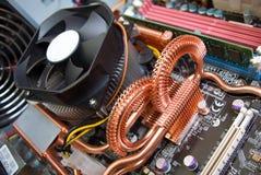 Elektronische kringsachtergrond Stock Foto's