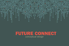 Elektronische kringsachtergrond Spu Het ontwerp van kringslijnen Toekomstig concept Stock Afbeeldingen