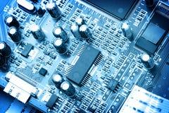 Elektronische kringsclose-up Stock Foto's