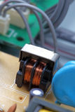 Elektronische kringsclose-up Royalty-vrije Stock Foto
