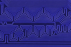 Elektronische kringsraad als abstract patroon als achtergrond Macro gestemd close-up Royalty-vrije Stock Foto