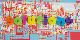 Elektronische Lösungen: mögliches Zeichen? Lizenzfreie Stockfotos