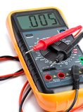 Elektronische Multimeter met Kabelsclose-up stock fotografie