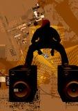 Elektronische muziekgebeurtenissen vector illustratie