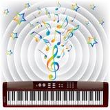 Elektronische piano. Stock Foto