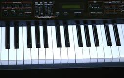 Elektronische piano stock fotografie