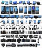 Elektronische pictogramreeks Stock Foto's