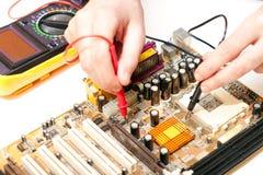 Elektronische reparatie Royalty-vrije Stock Afbeeldingen