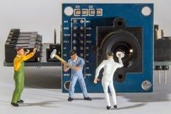 Elektronische reparatie Stock Fotografie