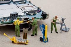 Elektronische reparatie Stock Foto