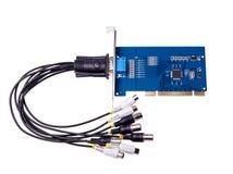 Elektronische Sammlung - Computervideodigitalisierungskarte Lizenzfreie Stockfotografie