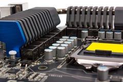 Elektronische Sammlung - moderner Prozessor des Mehrphasen- Stromnetzes Stockbild