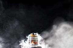 Elektronische Sigaret vape explosie Stock Foto