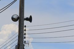 Elektronische signaalontvangst en ontvangst Stock Fotografie