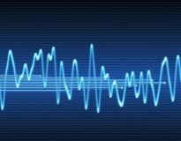 Elektronische sinus correcte golf Royalty-vrije Stock Foto