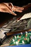 Elektronische Spaander Stock Foto's