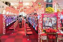 Elektronische spelruimte in Japan stock afbeeldingen