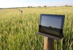 Elektronische technologie in het landbouw plaatsen Royalty-vrije Stock Afbeeldingen
