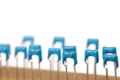 Elektronische Teile schließen oben oder Makro Lizenzfreie Stockbilder