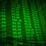 Elektronische voorraadaantallen Royalty-vrije Stock Afbeeldingen