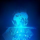 Elektronische Welt lizenzfreie abbildung