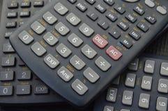 elektronische wetenschappelijke calculatorsachtergronden Stock Afbeelding