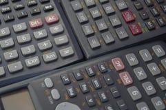 elektronische wetenschappelijke calculatorsachtergronden Royalty-vrije Stock Afbeeldingen