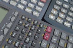 elektronische wetenschappelijke calculatorsachtergronden Royalty-vrije Stock Fotografie