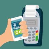 Elektronische Zahlung und Technologie Stockfoto
