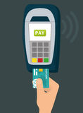 Elektronische Zahlung und Technologie Lizenzfreie Stockfotografie