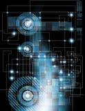 Elektronischer abstrakter Hintergrund Lizenzfreies Stockbild