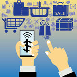 Elektronischer Geschäftsverkehr Stockbilder